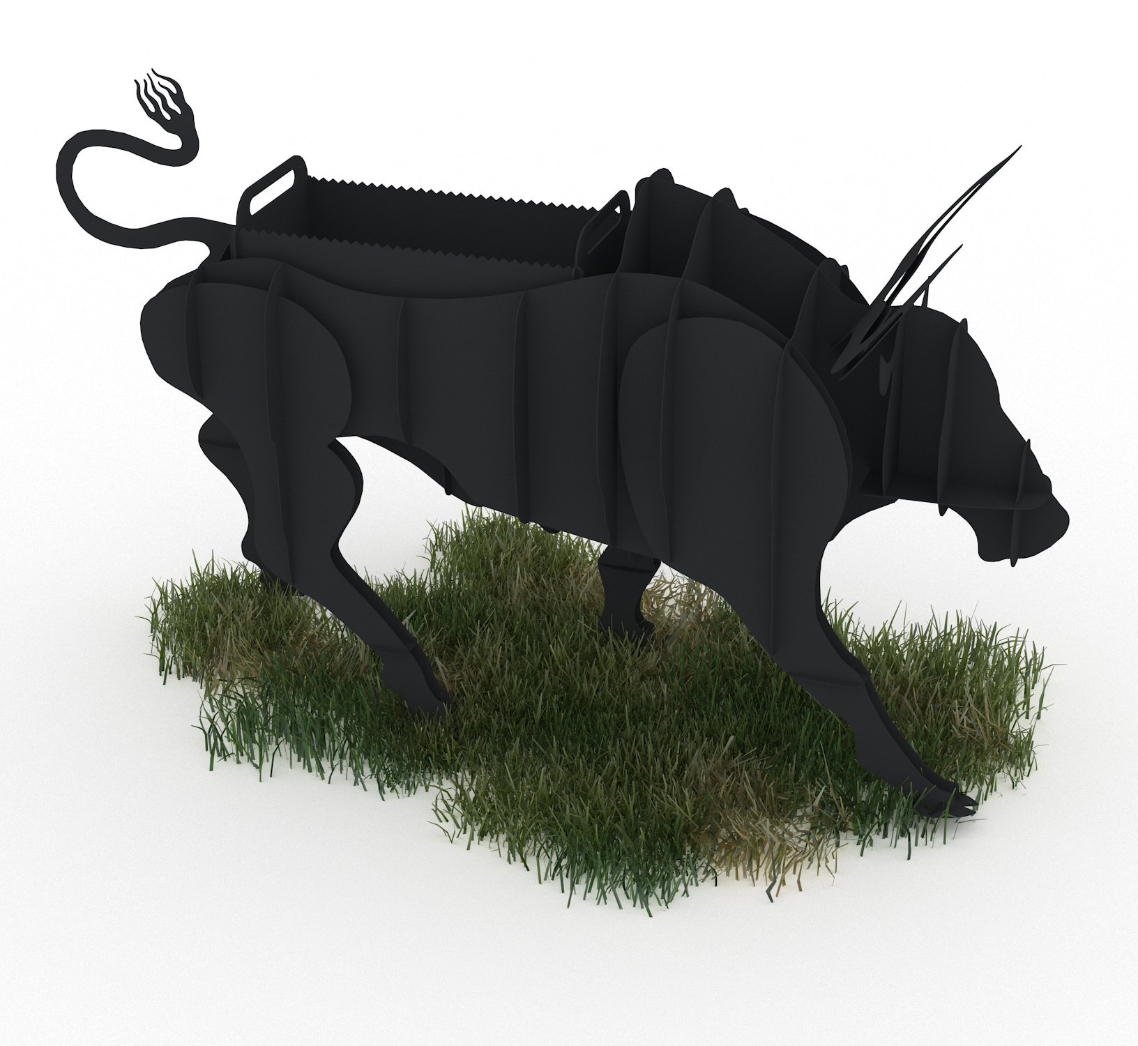 Bull BBQ CNC Plasma DXF Files Download (Realistic)