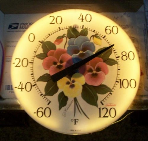 free backlit thermometer plans