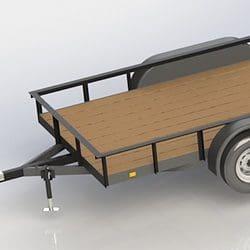 double axle 12 foot utility trailer plans