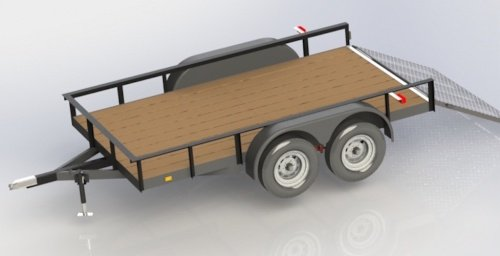 double axle 12 foot utility trailer plans