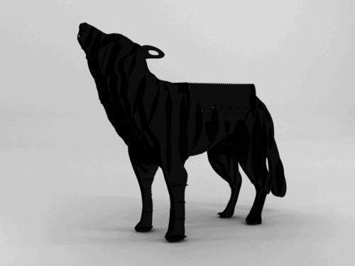 Wolf BBQ Grill CNC Plasma Files (Realistic, Full Size)