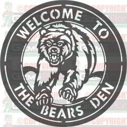 Bears Den DXF Plasma File Sign