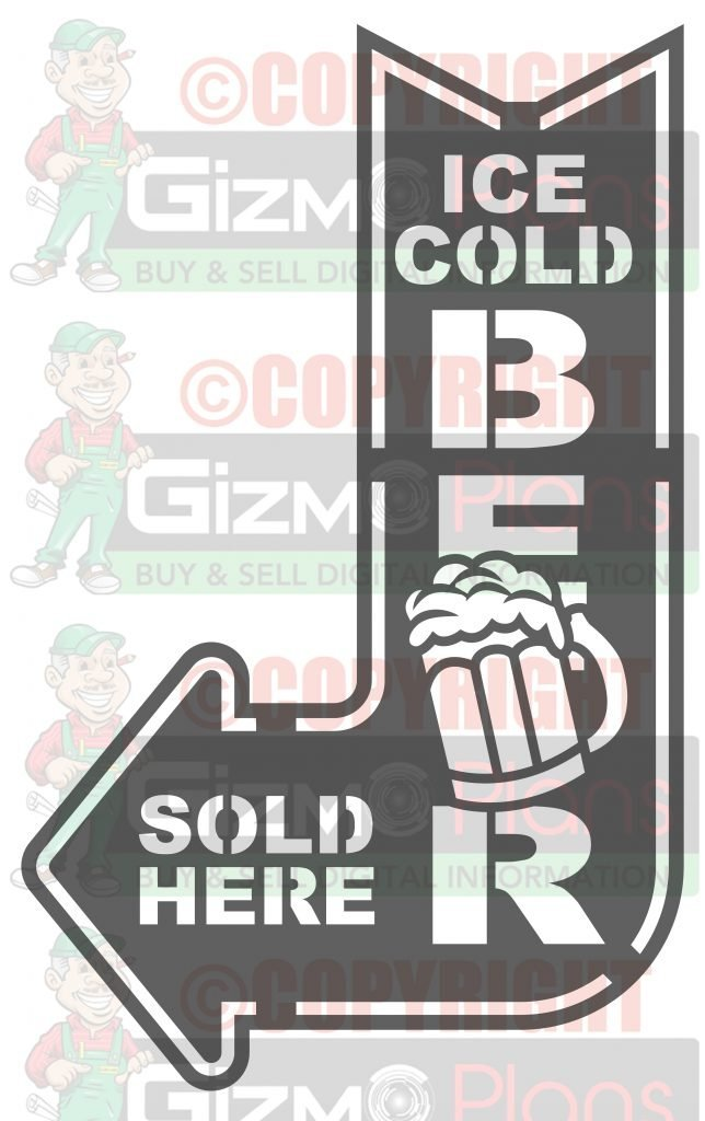 Beer Sold Here Dxf Plasma File