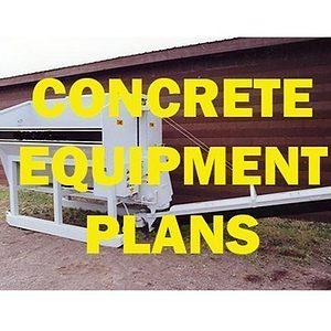 Concrete Equipment Plans