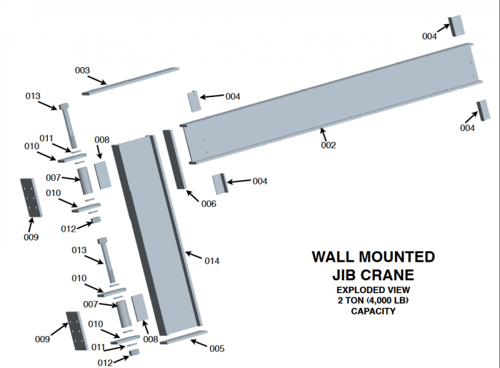 Column Mounted Wall Mounted Jib Crane Design