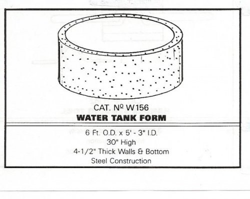 Metal Water Tank Mold Plans