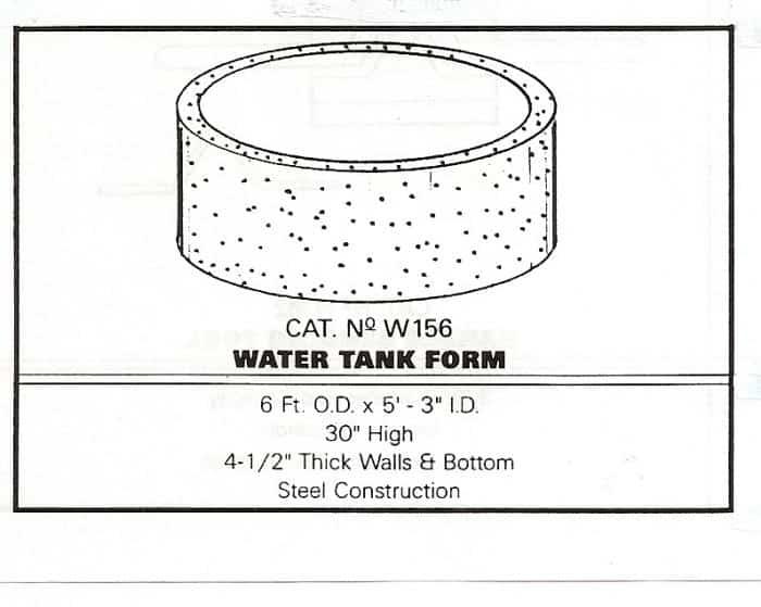 DIY Steel Precast Concrete Water Tank Form Plans (Build