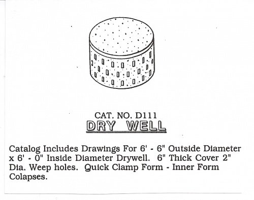 diy metal precast dry well mold