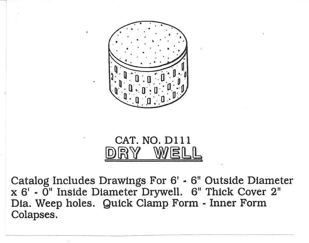 diy metal precast dry well mold
