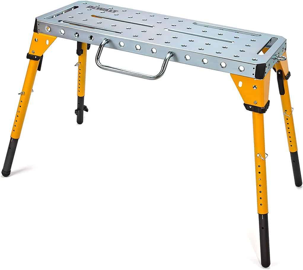 DEWALT Adjustable Height Portable Steel Welding Table and Workbench