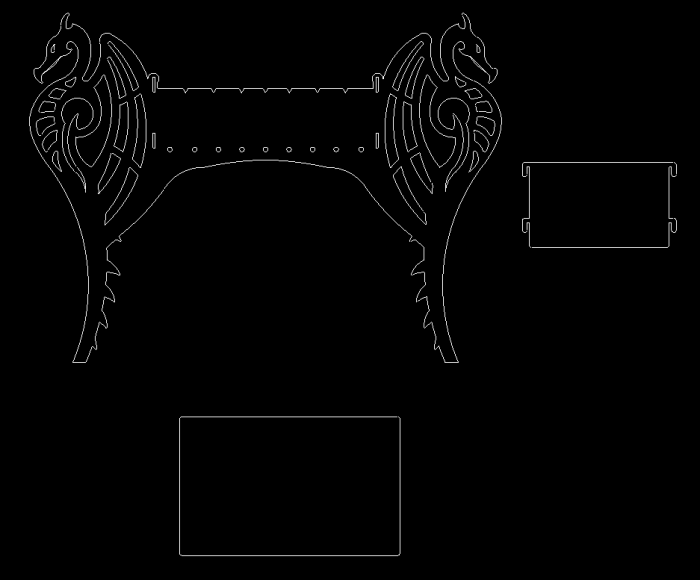 Dragon grill dxf file for plasma cutting