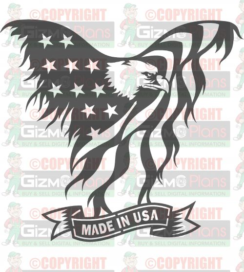 Flying Eagle American Flag DXF Files