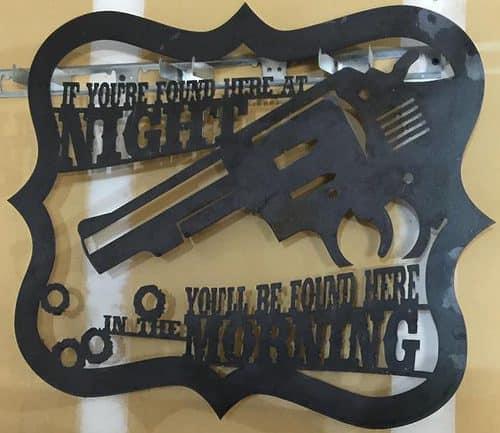 Gun Warning Sign CNC DXF Files