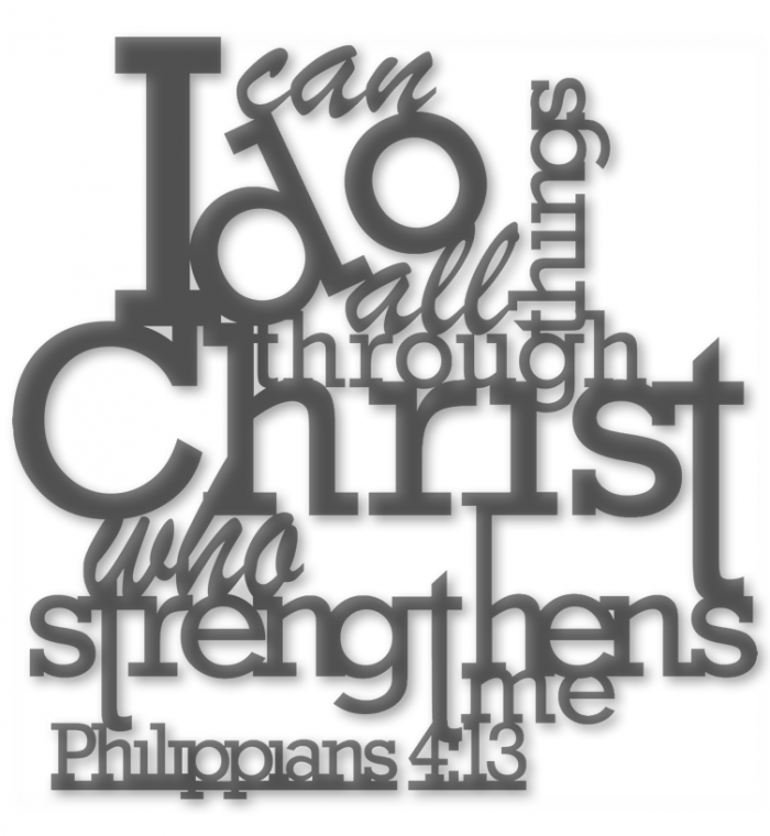 I Can Do All Things Through Christ CNC Plasma DXF Files (Download)