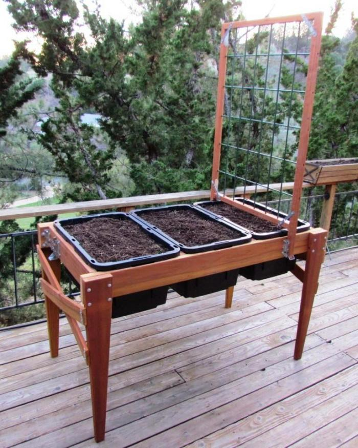 67x34 Tall Raised Garden Bed Plans (Including Tool And