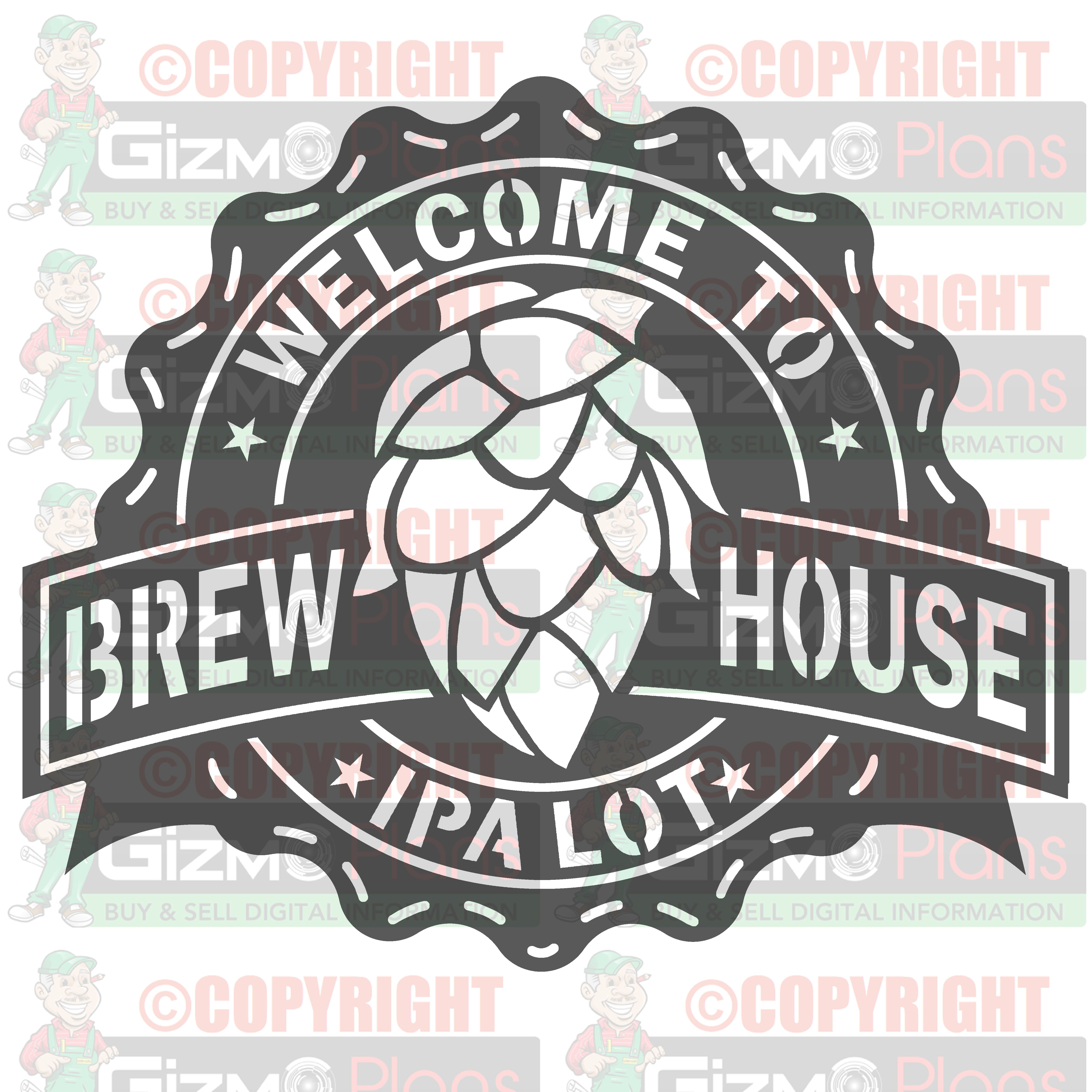 IPA Brewhouse CNC Plasma DXF Files Download (Many Unique