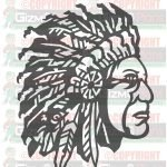 American Indian DXF File