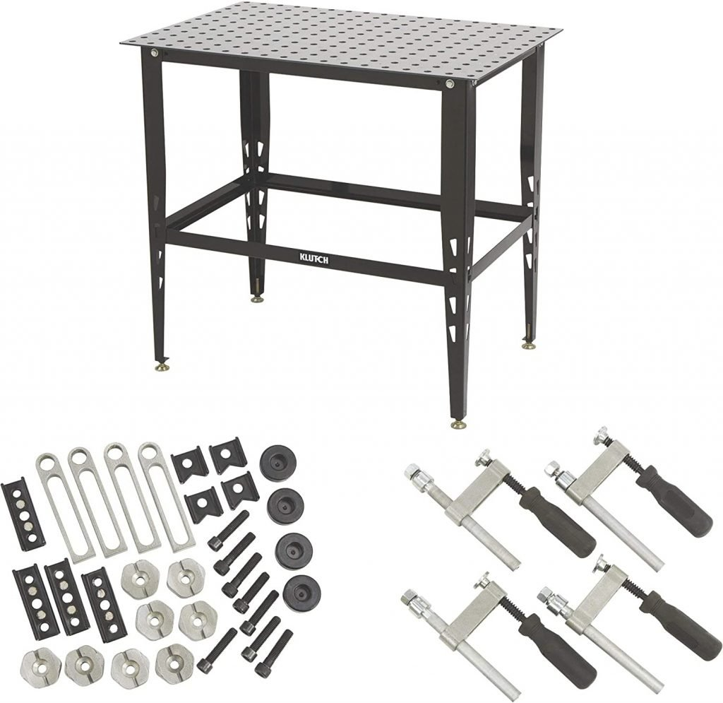Klutch Steel Welding Table with Tool Kit