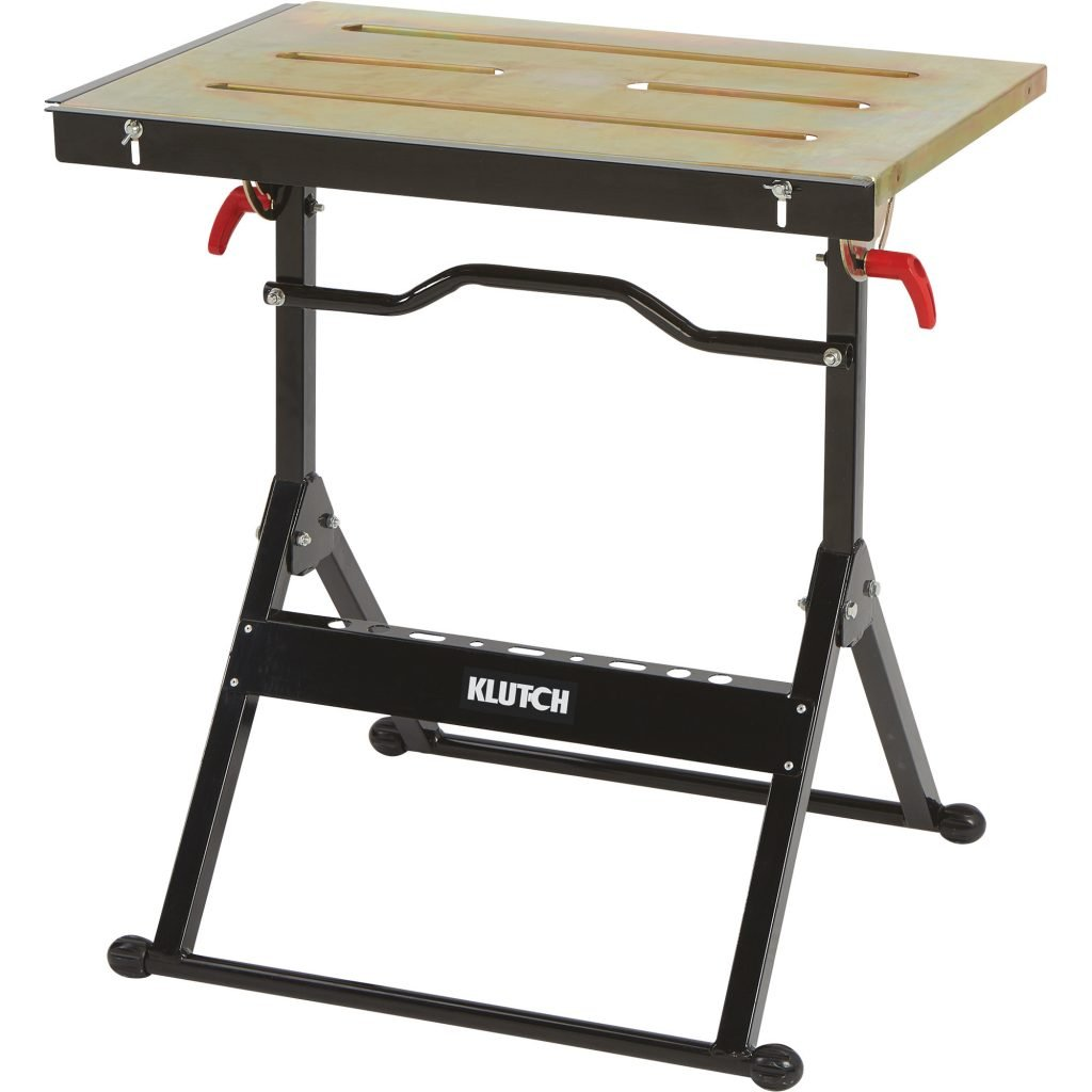 Klutch Adjustable Steel Welding Table