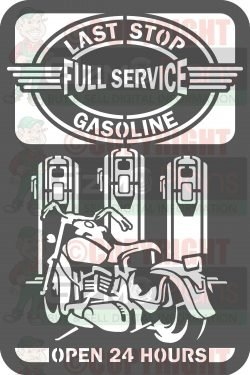 Last Stop Gasoline DXF CNC Files