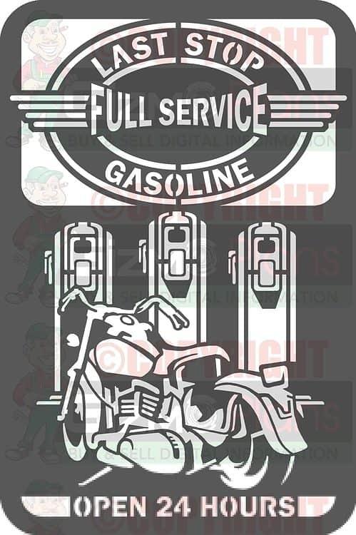 Last Stop Gasoline DXF CNC Files