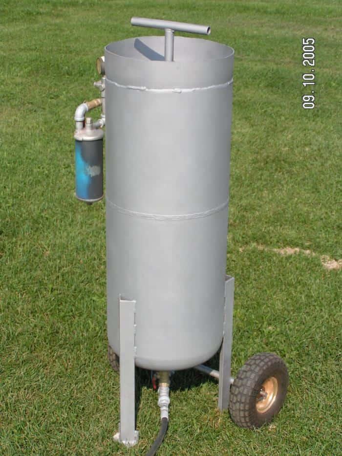 Pressurized Sandblaster Plans
