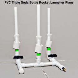 pvc triple soda water rocket plans