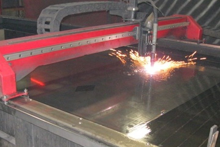Plasma Cutting Aluminum Over Water