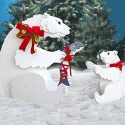 Trace and Cut Polar Bear Patterns