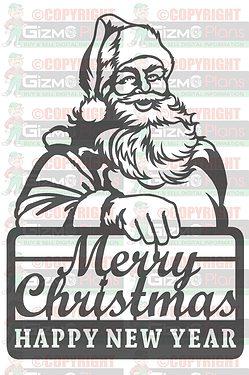 Santa Clause DXF Plasma File