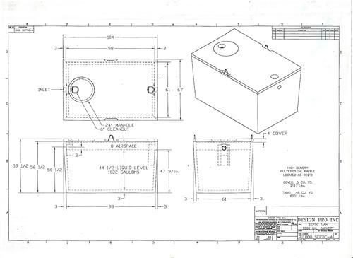 Septic tank mold plans 1000 gal
