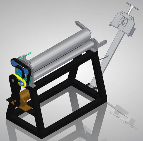diy sheet metal roller