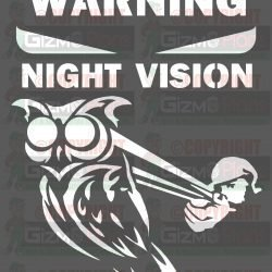 Warning Night Vision Surveillance DXF File