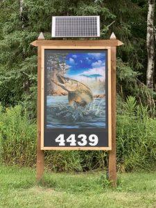 diy solar address sign