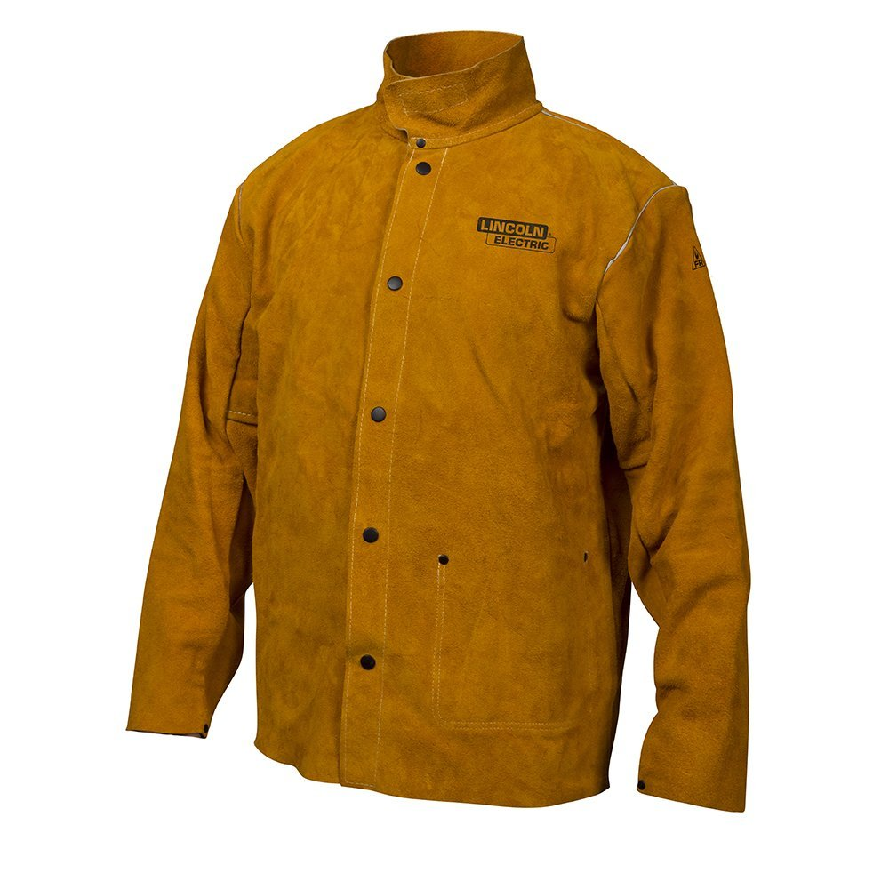 Leather welding jacket by Lincoln Electric