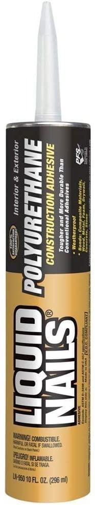 Liquid Nails LN-950 2 Pack 10 oz. Polyurethane Construction Adhesive, Tan