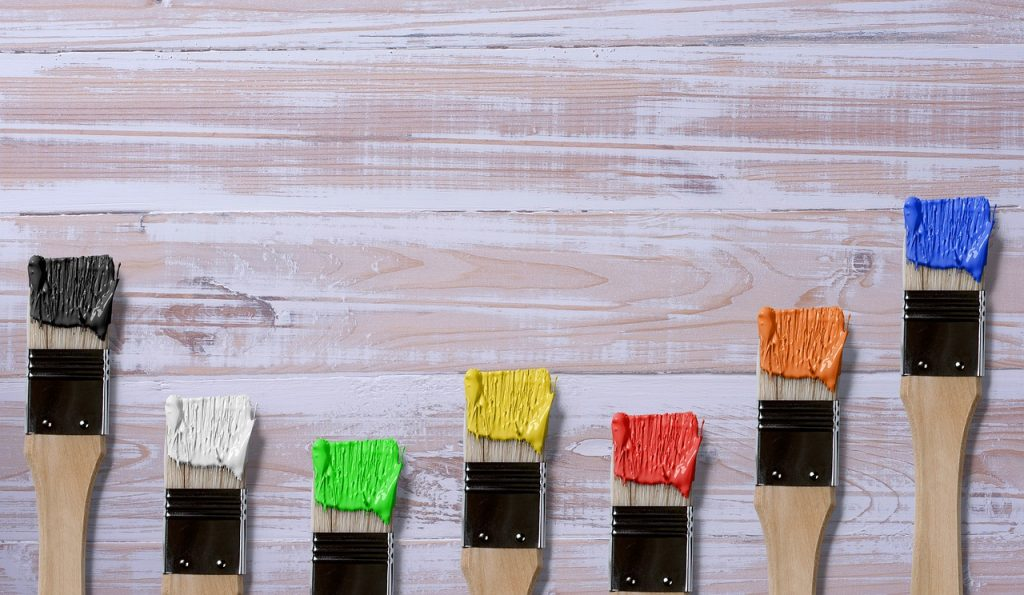 A series of wet paintbrushes is shown in this file photo.