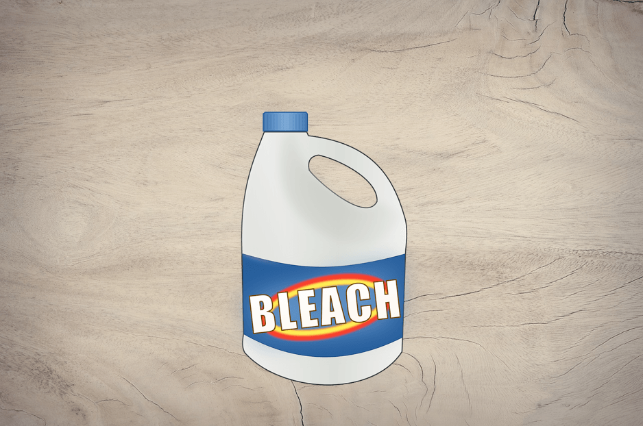 can you use bleach on wood