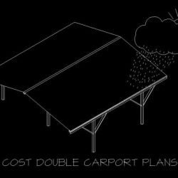 Low Cost Double Carport plans