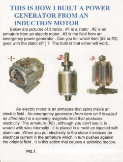 diy induction motor to generator