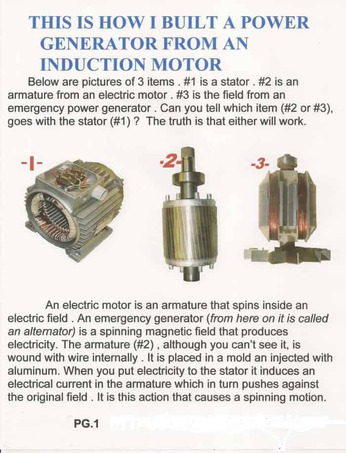 diy induction motor to generator