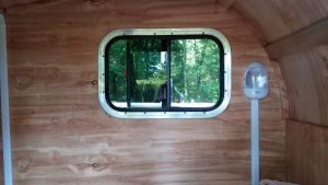 diy motorcycle camper trailer inside