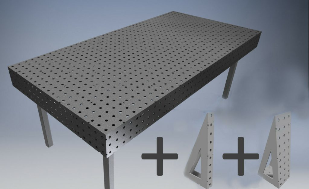 Plans for a welding table plus accessories is shown in this file photo.