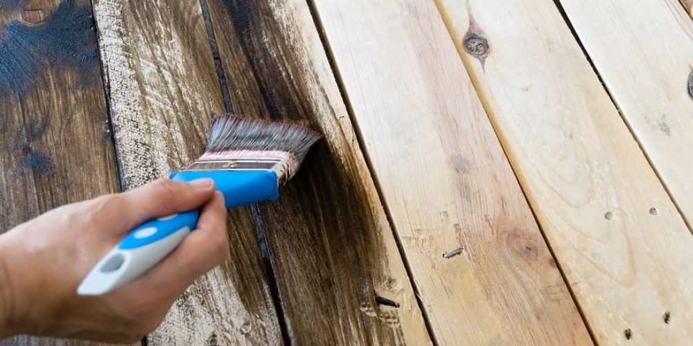 how to apply wood dye