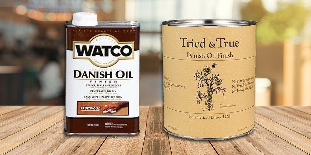 danish oil on pine