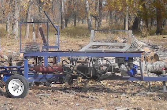 diy hydraulic firewood processor