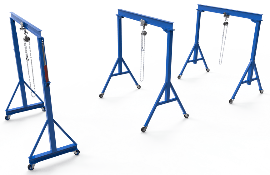 fixed adjustable mobile diy gantry crane plans