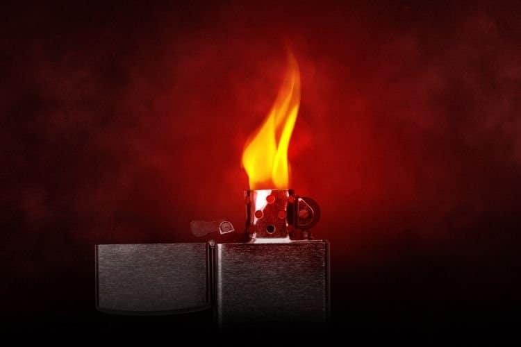 lighter burning