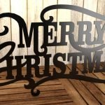 merry christmas free dxf file