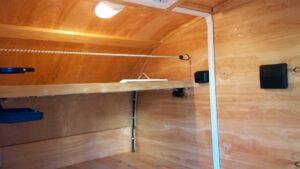 motorcycle camper trailer inside 2